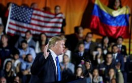 "Trump issued a dire warning to Venezuela's military if they continue with Maduro: ""you will find no safe harbor, no easy exit, no way out. You will lose everything."""