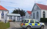 The Falkland Islands Royal Police Station in Stanley