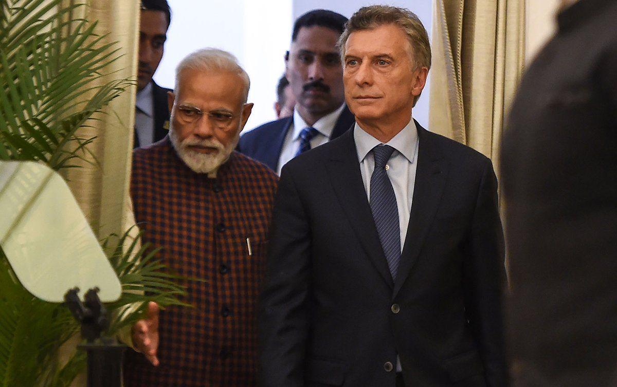 """""""Esta es la quinta reunión que las dos naciones han llevado a cabo en los últimos tres años.  Esto no es solo un reflejo de la química entre nosotros """", dijo Macri."""