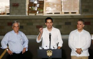 "Guaidó has called it ""the greatest mobilization in our history"" and has assured that aid ""will enter in any way."""