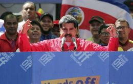 """My patience is exhausted, I cannot continue to endure (...) that the territory of Colombia is being lent for an aggression against Venezuela,"" Maduro announced at an official ceremony"