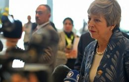 "Heading for a summit between EU and Arab league leaders, Mrs May said leaving the EU with a deal and on time on 29 March was still ""within our grasp""."