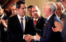 The new sanctions were announced in Bogota as US Vice President Mike Pence and opposition leader Juan Guaido met with members of the Lima Group