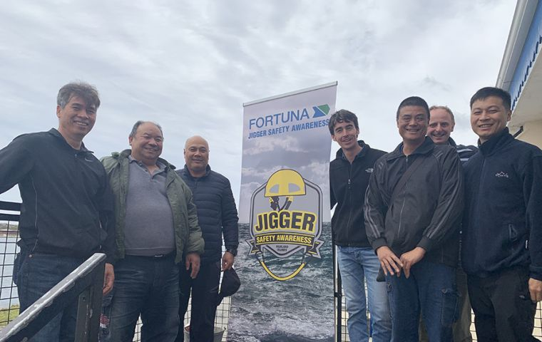 Jigger crew members with Fortuna Ltd. representatives
