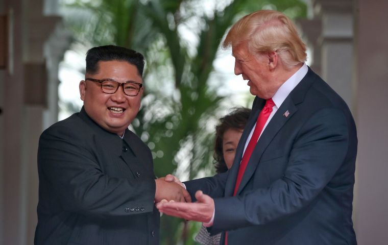 "Trump said late last year he and Kim ""fell in love"", and on the eve of his departure for the second summit said they had developed ""a very, very good relationship"""