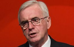 "Shadow Chancellor John McDonnell said Labour would table an amendment for a referendum when the ""meaningful vote"" on Mrs. May's deal returns to Parliament"