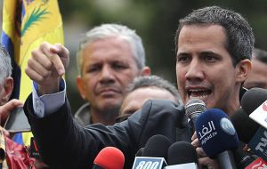 Guaido arrived in Brasilia for a two-day visit from Bogota, where he had attended a meeting with US Vice President Mike Pence and the regional Lima group