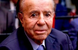 """In life you have to know how to tolerate, wait and forgive,"" said Menem after his acquittal."