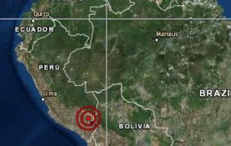 The tremor was recorded at a depth of 258 km in the department of Puno, at around 4.50 am local time