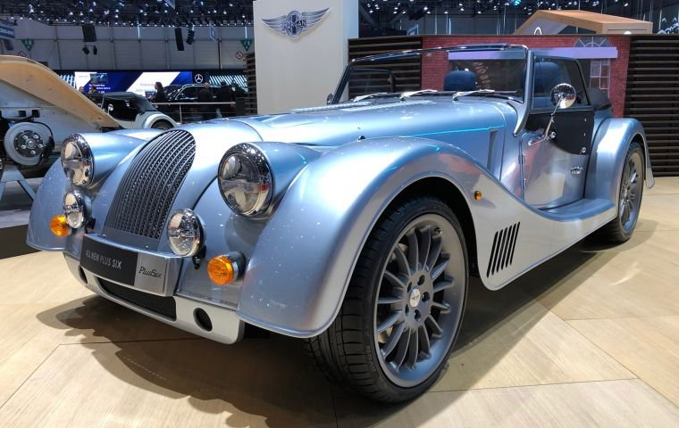 The announcement came as the company unveiled its latest Morgan Plus Six at the Geneva motor show