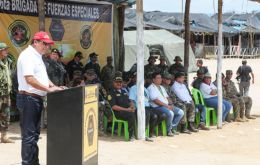 """The government has taken the political decision to be present in this region to eradicate illegal mining,"" said Defense Minister Jose Huerta at Tambopata reserve"