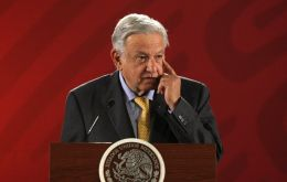 During a speech marking the first 100 days of his administration, Lopez Obrador conceded that economic expansion remains slow but reiterated his goal of 4%