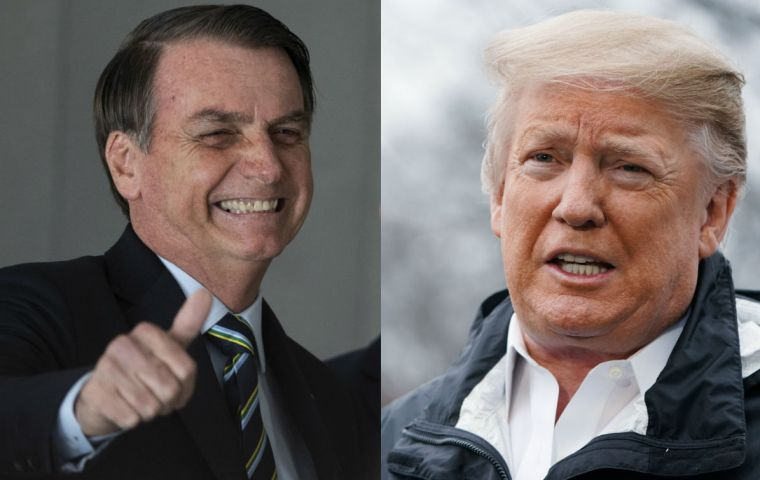 Bolsonaro will meet US President Donald Trump in the White House on Tuesday during a visit aimed at strengthening economic, political and military ties