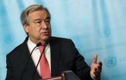 Antonio Guterres, Secretary General of the United Nations Organization