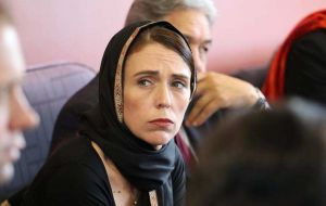 """I'm not privileged to a full breakdown at this point but it is clear that young children have been caught up in this horrific attack,"" PM Jacinta Ardern said"