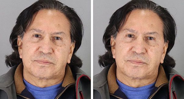 Ex Peruvian president spends a night in California jail for