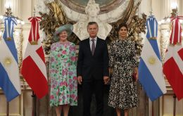 President Macri received Queen Margrethe II at the Presidential Palace, Casa Rosada