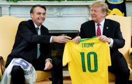 In a joint news conference in the White House Rose Garden, Trump said he told Bolsonaro he would designate Brazil a major non-NATO ally