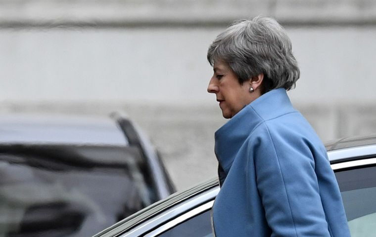 Mrs May still hopes to ultimately get it in front of MPs for a third go, but says even if that happens and they vote in favor of it, the UK will need a short extension