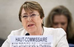 Bachelet said escalating human rights violations are also leading to a further deterioration of the economic and social dynamics