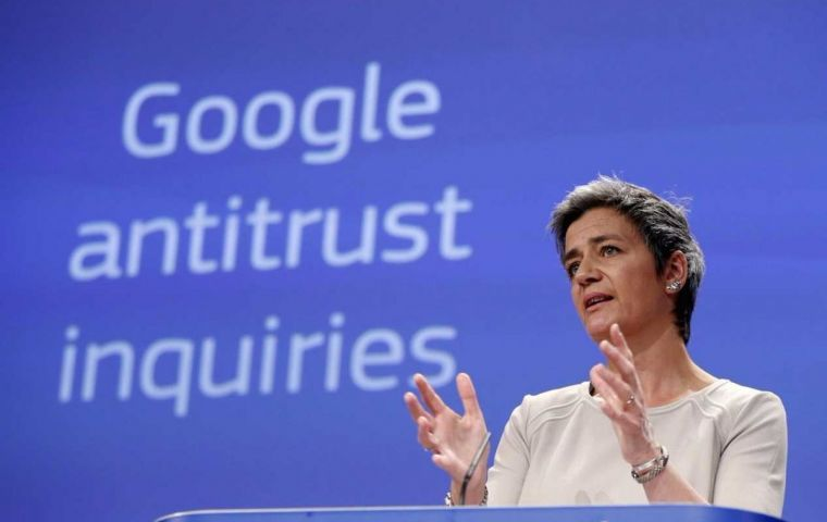 The EC said the fine accounted for 1.29% of Google's turnover in 2018, adding that the anti-competitive practices had lasted a decade