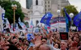 "With slogans such as ""Memory, truth and justice"", ""Never again"" and ""30.000 Disappeared"" the marchers filled the streets of the Argentine capital"