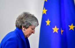 "Noting the growing support for her deal despite the defeat, May's spokesman told reporters on Friday: ""We are at least going in the right direction"""