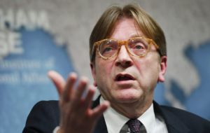 "Guy Verhofstadt, leader of the European Parliament's Brexit committee, said: ""A hard Brexit becomes nearly inevitable"""