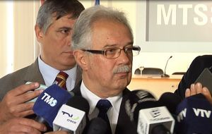 Ousted Defense minister Jorge Menendez who in his resignation letter exposed Toma