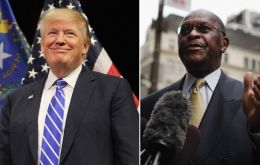 Herman Cain, the former pizza chain executive quit the White House race in 2012 amid allegations of sexual misconduct, which he denied