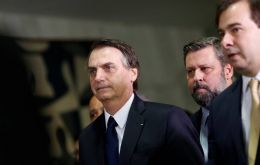 Brazilian President Jair Bolsonaro met fellow politicians in a bid to build support to pass his government's proposal to reform the country's bloated pension system