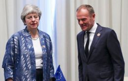 UK is due to leave the EU at the end of next week, but Mrs. May is now seeking to delay Brexit for a second time after her deal was rejected for a third time last week