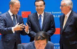 In a column for Monday's edition of Handelsblatt, the Chinese Premier denied accusations Beijing was trying to split the bloc by investing in eastern Europe