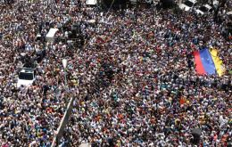 In Caracas, thousands of opposition supporters assembled at a main rally point in the eastern El Marques district.