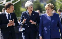 "May is to visit Chancellor Angela Merkel and President Macron on Tuesday, in what was described as an attempt to set out ""the rationale"" for a further delay"