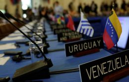 Uruguay was among the nine countries voting against the resolution accepting the Venezuelan National Assembly permanent representative