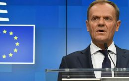 """Please don't waste this time,"" Tusk told a news conference after eight hours of EU leaders' talks on the matter"