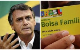 "The more than 14 million recipients of the ""Bolsa Familia"" will get a 13th month payment, Bolsonaro said at a ceremony celebrating his first 100 days in office"