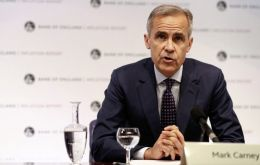 Carney, in Washington for the IMF and World Bank spring meetings, welcomed the reduced risk of a chaotic no-deal Brexit