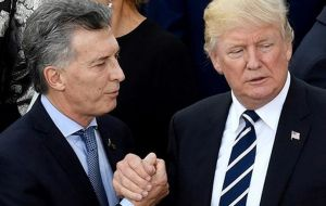 "In a letter to Argentine president Macri, Trump said declassification ""demonstrates our shared commitment to promoting open and transparent government."""