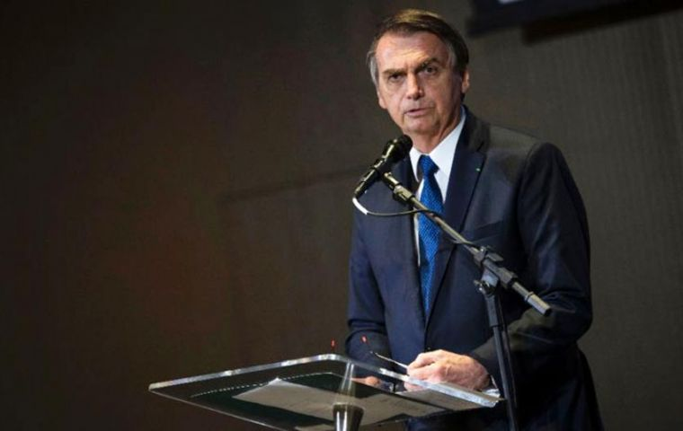 "Bolsonaro was chosen to receive the ""Person of the Year"" award from the Brazil/US Chamber of Commerce  at a May 14 gala dinner"