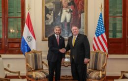 """Paraguay is a leader in defending democracy and calling Maduro as he is, a tyrant who has ruined his country,"" Pompeo underlined in Asunción"