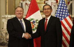 """Peru has felt firsthand the effects of the disastrous Nicolas Maduro and the pain that he has brought to the Venezuelan people,"" Pompeo said in Lima"