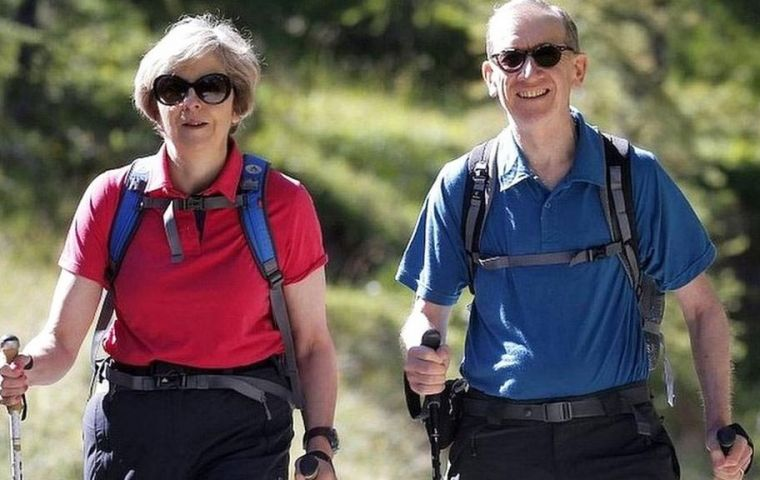 Mrs. May famously decided to call a snap election during a walking holiday in Snowdonia in 2017 and went on to see her Commons majority wiped out. (Pic BBC)