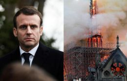 """We'll rebuild this cathedral all together and it's undoubtedly part of the French destiny and the project we'll have for the coming years,"" said Mr. Macron."
