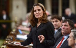 Foreign Affairs Minister Chrystia Freeland offered Canada's support for the Alliance for Multilateralism during a meeting of G7 foreign ministers in Dinard
