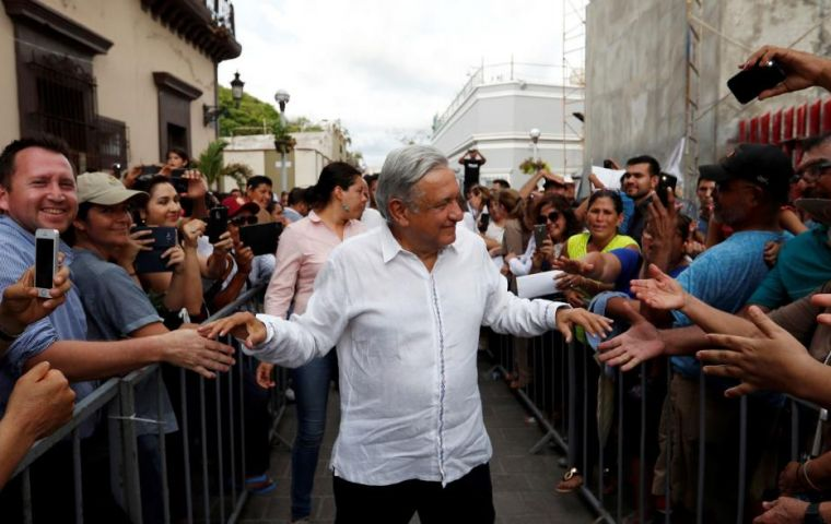 """Let's quickly return everything to the people that's been stolen,"" Lopez Obrador said at his regular morning news conference"