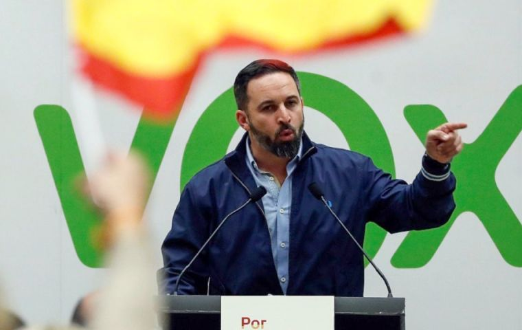 "Vox's leader Santiago Abascal responded defiantly on Twitter: ""It's clear who calls the shots still in Spain: the separatists. Until April 28"""