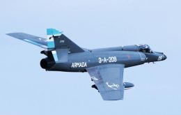 The refurbished Super Etendard are an advanced version of the Argentine navy fighter bombers that played a distinguished role during the Falklands' conflict