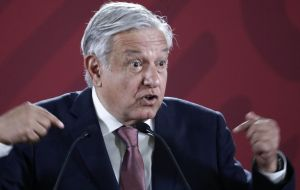 At a Navy event, Lopez Obrador defended the creation of a National Guard, his key strategy to fight the wave of violence that has engulfed Mexico